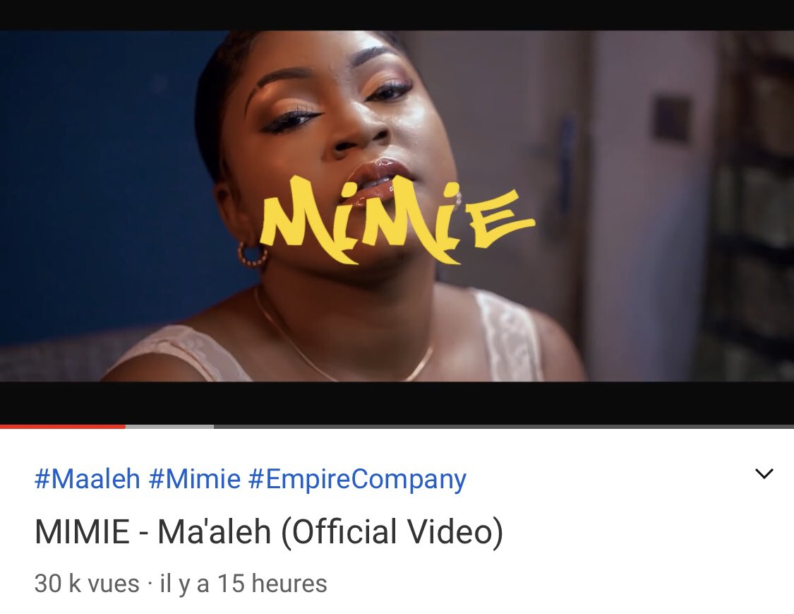 Le bon démarrage du nouveau clip de Lady @mimieofficielle !  « MA'ALEH», produit par @OkenOfficial et réalisé par @callme_adah est disponible sur YouTube 🔗 https://t.co/PdSZqZ8odq https://t.co/KpljiYjfe3