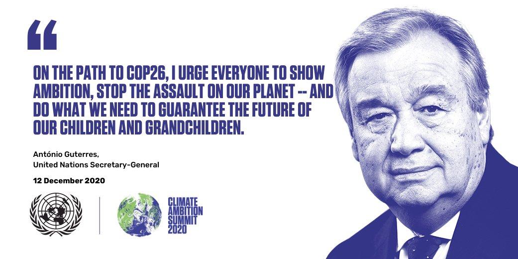 Image result for UN SECRETARY GENERAL CLIMATE AMBITION