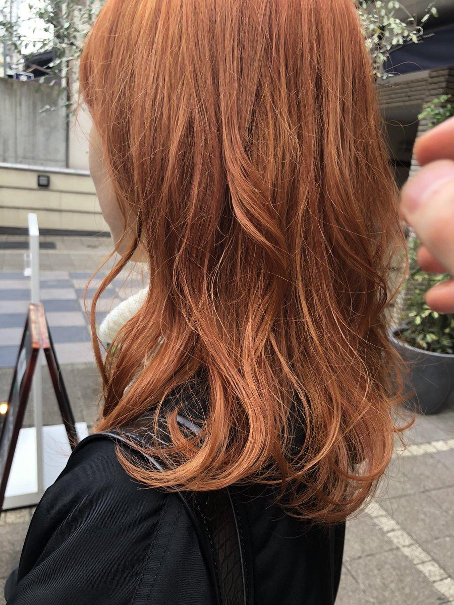 来年から就職しちゃうから、最後のお遊びだと思って髪の毛オレンジにしてきました!!派手!!でも可愛い!!これでいいんだ!!!!