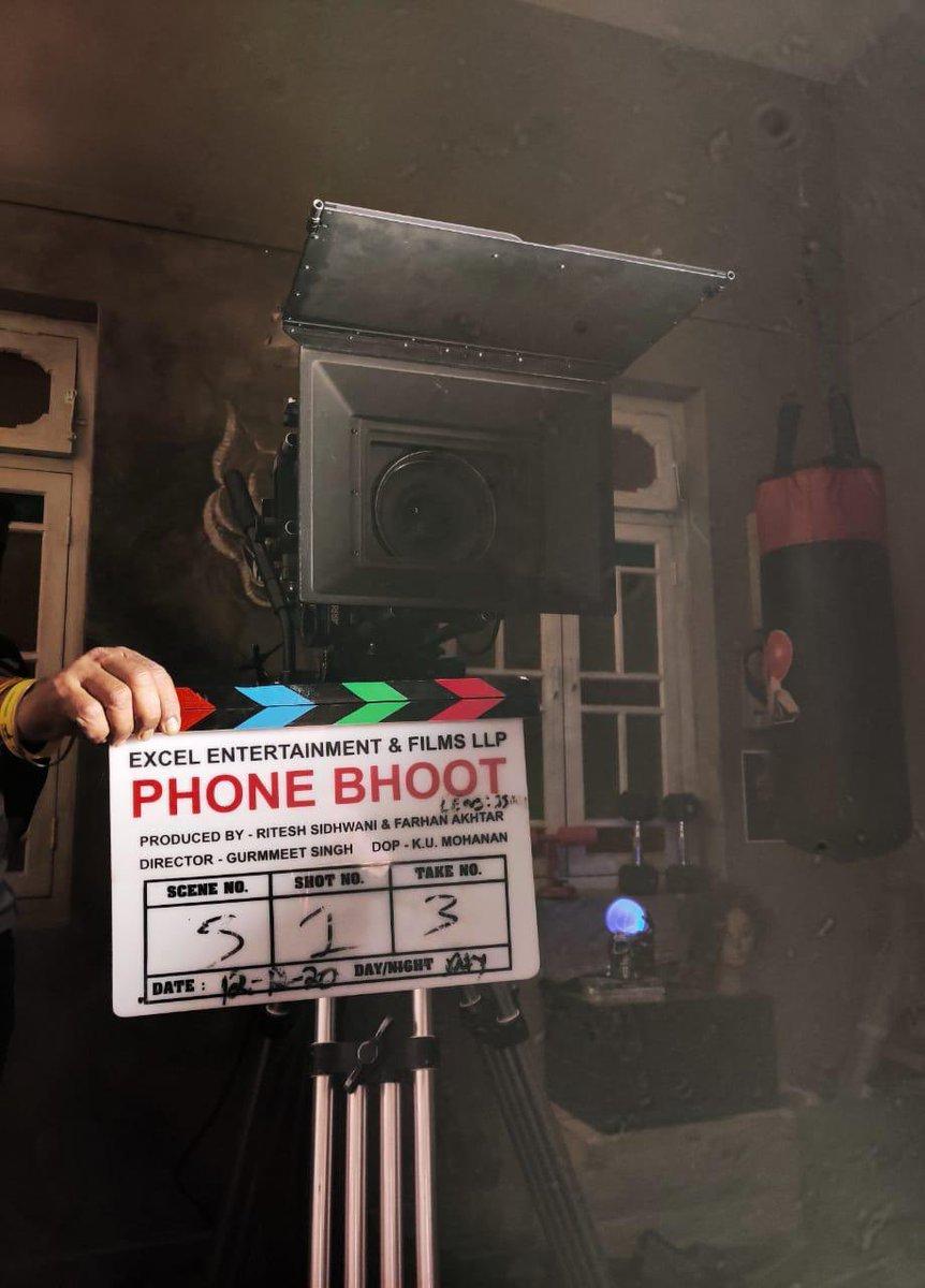 It is going to be a Fa-boo-less first day! I can feel it in my bones. #PhoneBhootStartsToday  @gurmmeet #KatrinaKaif @SiddhantChturvD #IshaanKhatter @raviivar @JasvinderBath @FarOutAkhtar  @excelmovies   #PhoneBhoot