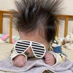 ロックバンド並の赤ちゃん!ヘビィメタルな頭は誰にも負けない!