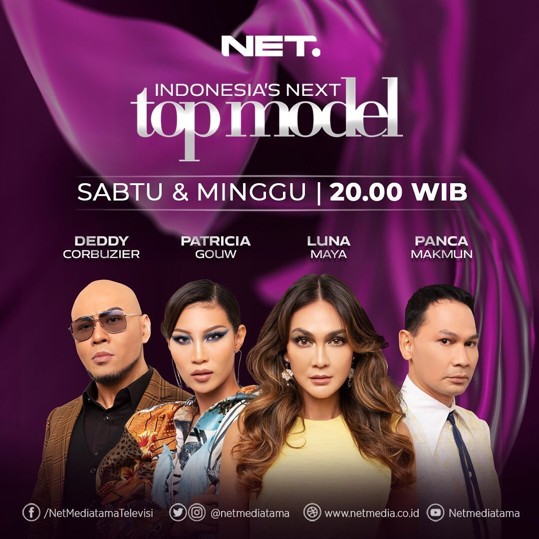 Indonesia's Next Top Model - INTM C1 setiap Sabtu & Minggu pkl. 20:00 WIB hanya @netmediatama #Nettv #INTM #INTMc1 #INTMs1 #IndonesiasNextTopModel #IndonesiaNextTopModel #Asntm #AsiasNextTopModel #AsiaNextTopModel #LunaMaya #PatriciaGouw #DeddyCorbuzier #PancaMakmun #AyuGani