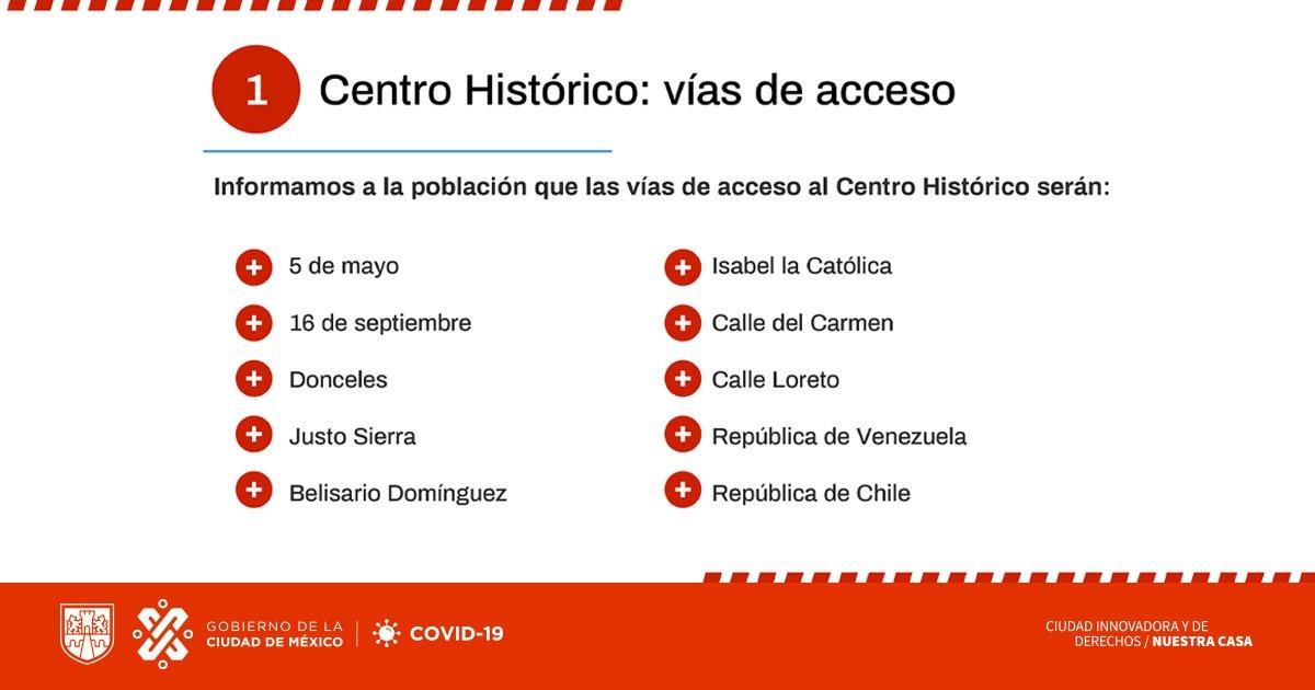 Cerrarán negocios del Centro Histórico por alerta de Covid-19; conoce los horarios