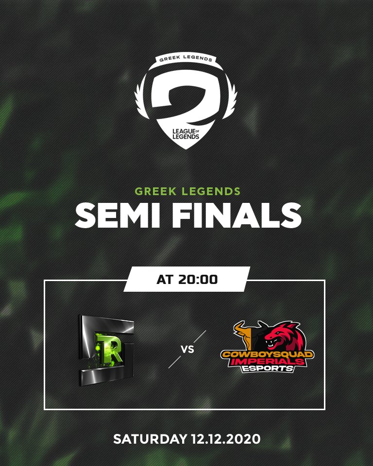 Our games for the Semi-Finals of @GRLegends Academy League are today! A BO3 series versus @CbiEsports   🆚 Cowboysquad Imperials Esports  🕖 20:00 📺  -   #Refuse2Lose  @Dombai_Europe | #WTFast