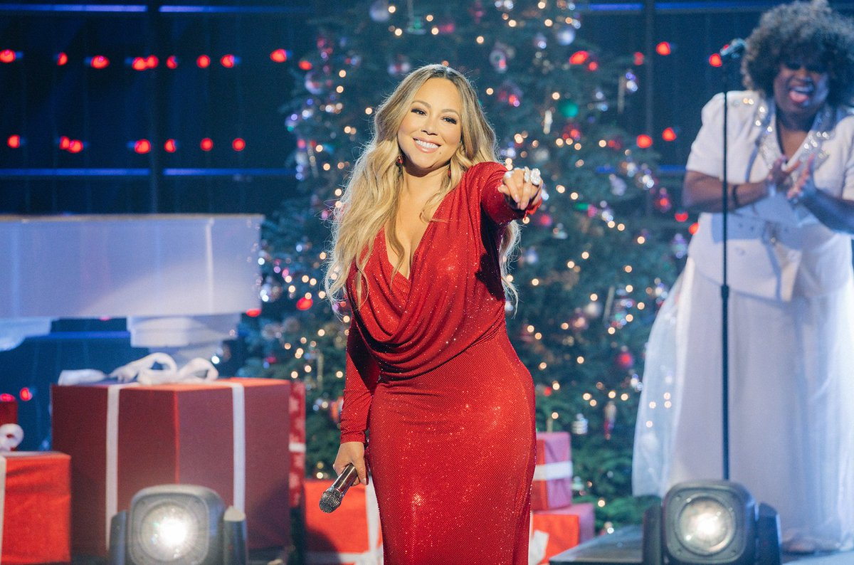 Holidays are fast approaching & #MariahCarey is defrosting as her famous hit #AllIWantforChristmasIsYou takes its yearly seat atop the #Holiday100 list. What's your favorite holiday song?  #HolidaySpirit #HolidayMusic #ChristmasMusic #ChristmasSongs #Christmas #Billboard