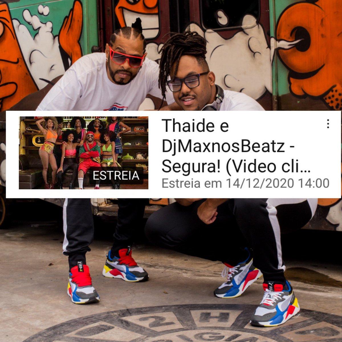 Ontem lançamos a música  #Segura Thaide e DJ MaxnosBeatz em todas a plataformas digitais, segunda feira as 14h lançaremos o vídeo clipe no meu canal YouTube. Link:   Faça sua inscrição, juntos somos + fortes. #VQVQOSNPP