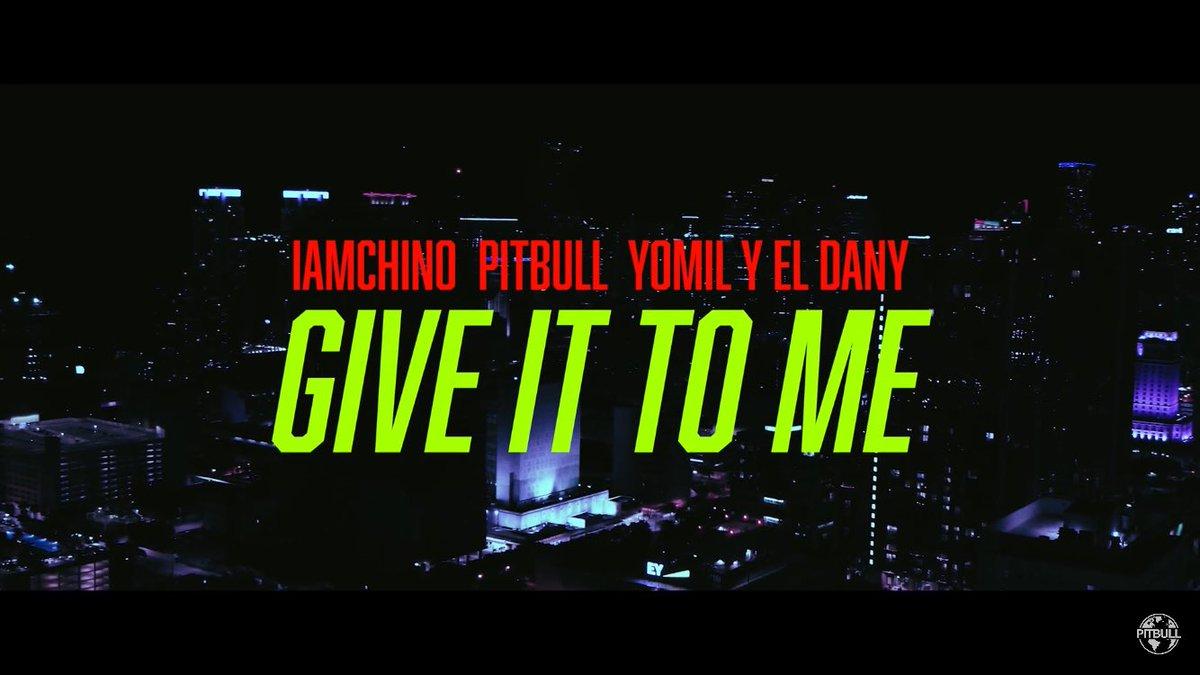 "#NEW The ""𝙂𝙞𝙫𝙚 𝙄𝙩 𝙏𝙤 𝙈𝙚"" official music video by @IAmChino__ x @Pitbull x @Yomil_Champions is OUT NOW! #Crunkaton #MrWorldwide #Pitbull🔥  Watch it here:"