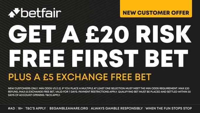 Betfair 20 risk free betting evo stik division 1 south betting sites