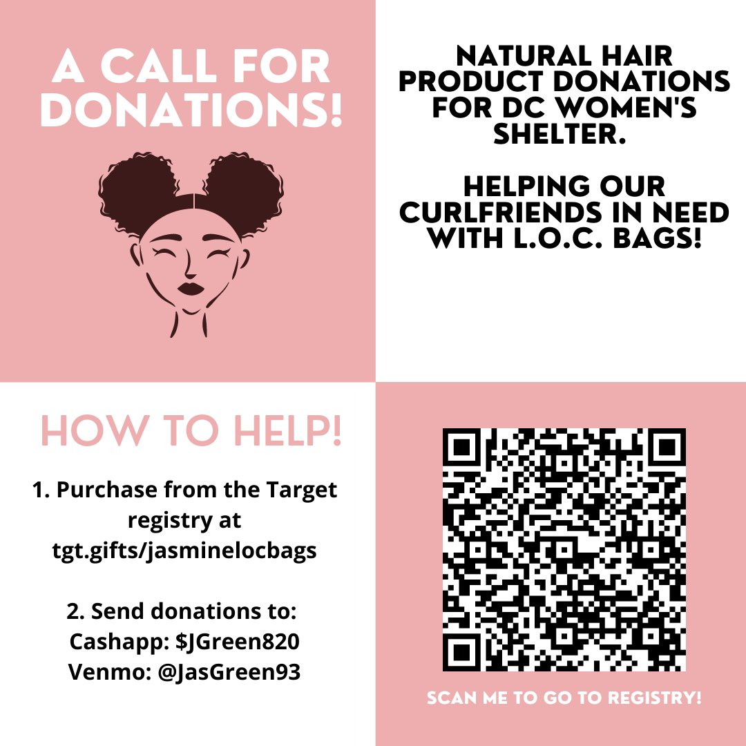 Natural hair care donations needed for N Street Village - any bit helps! 💕