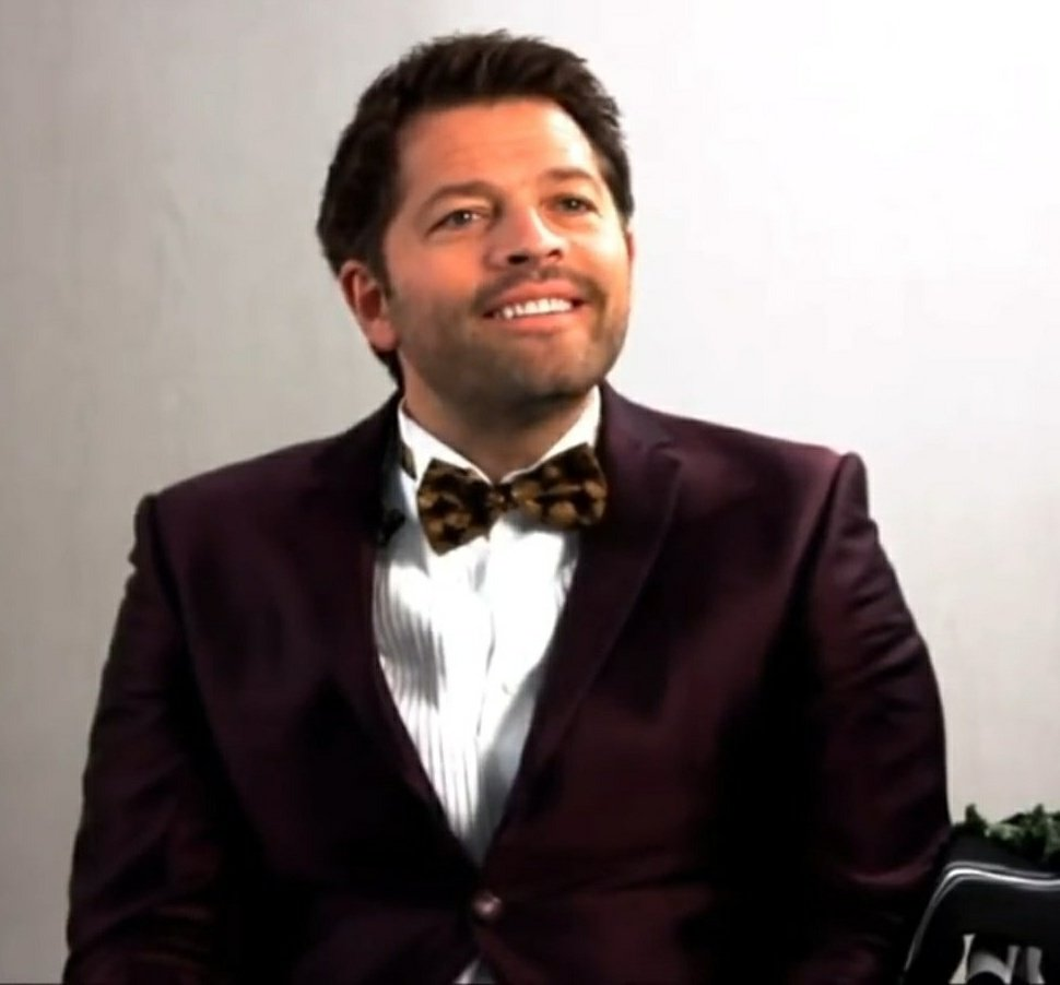 Misha wearing a bow tie is one of the cutest things ever