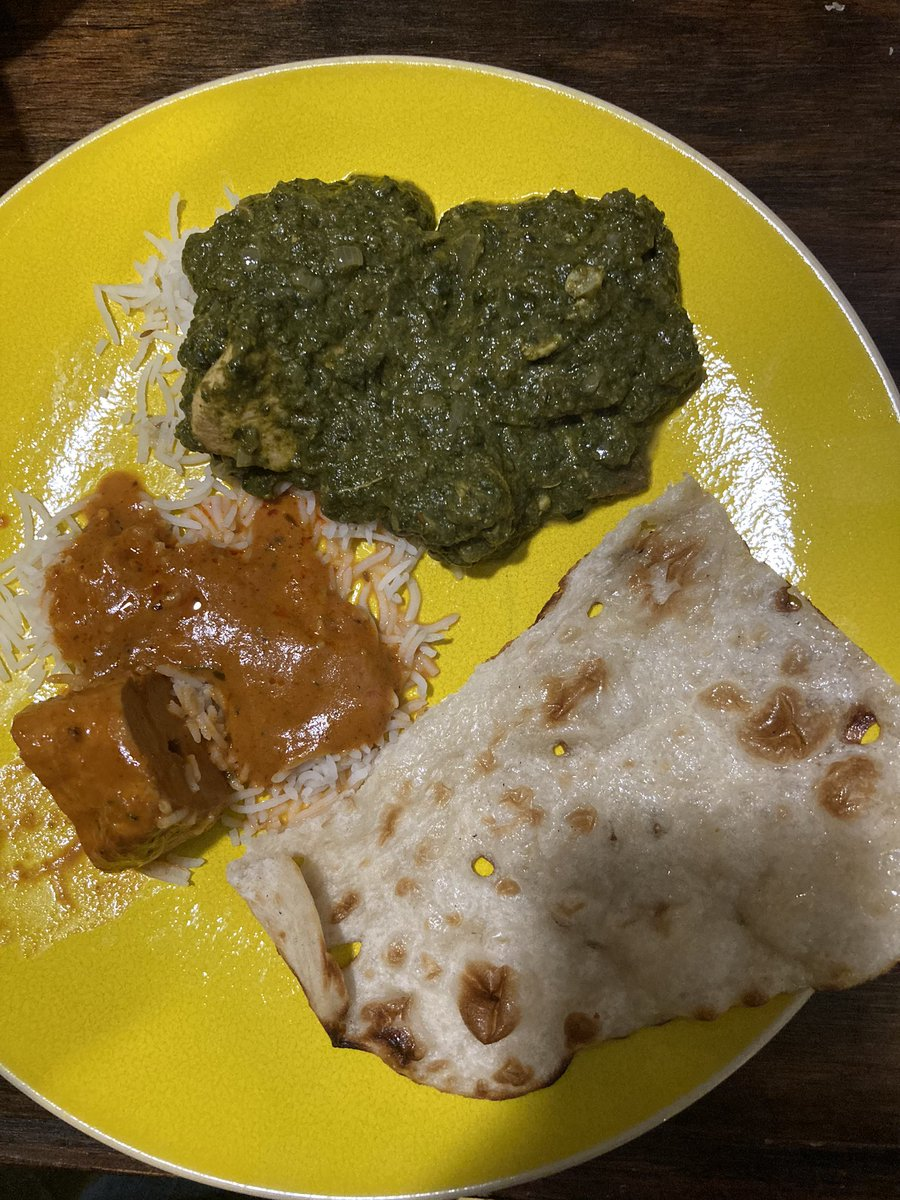 Trying a new (to us) local Indian restaurant tonight - . The Saag to die for #SmallBusinessEveryDay