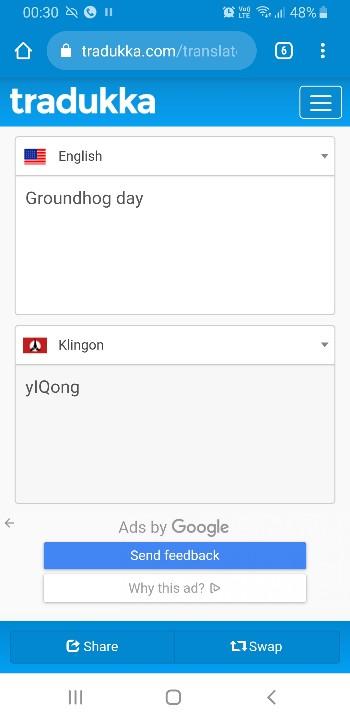 Tradukka Klingon – Madžarščina, hebrejščina, hindujščina, hmong daw, nizozemščina, indonezijščina, angleščina, italijanščina, japonščina, klingon, latvijščina.