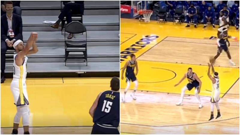 【影片】熟悉的味道!Curry復出後第一顆三分,手起刀落板凳席隊友提前慶祝!