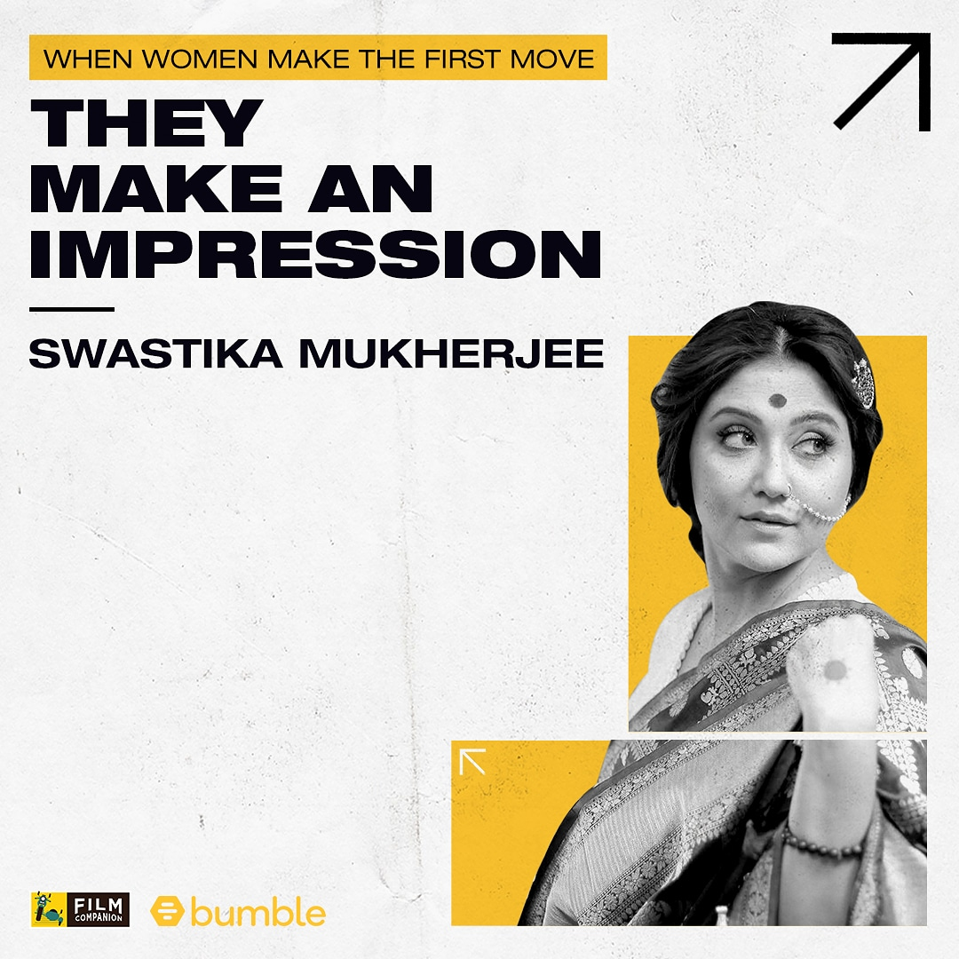 #FCFirstMovers @swastika24 has made her mark in films through memorable performances across diverse films & languages - #DilBechara, #TasherGhawr, #PataalLok & more. Watch her interview with @anupamachopra now:  #MakeTheFirstMove #BumblePartner @bumble