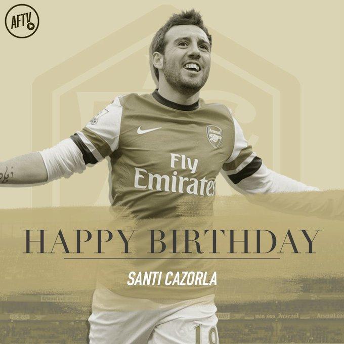 Happy Santi Cazorla s Day.  Happy Birthday, Football magician