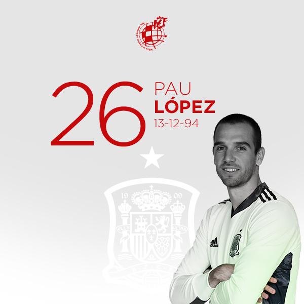 🥳 ¡Feliz cumpleaños, @paulopez_13!  🥅 El portero internacional de la @SeFutbol y la @OfficialASRoma cumple 26 años.  🎂 ¡Disfruta de tu día!