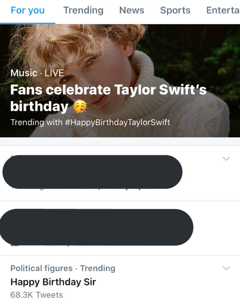 Happy birthday sir taylor swift, my favourite political figure