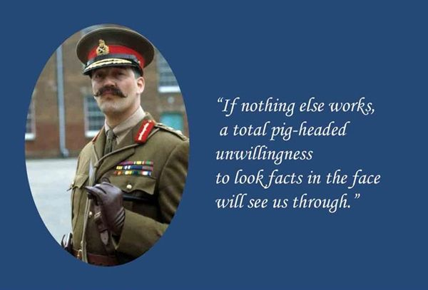 As per anonymous sources (Reuters Pak Style) It has been heard that General Melchett has been specially roped in to provide the spin post Lahore PDM Jalsa. Now there is a huge scheduling fight going on between Naya Daur Types, PMLN Journalist wing & Hameeds anti imperialists.