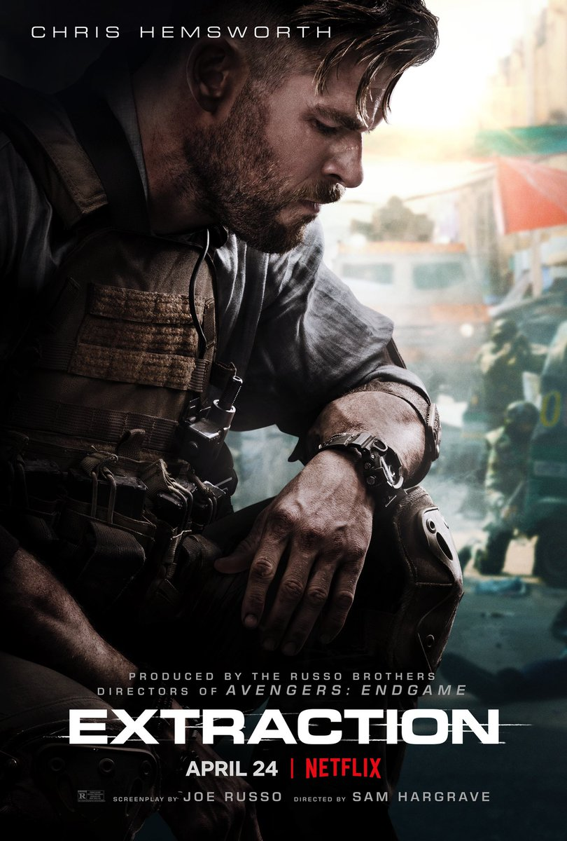 REVIEW: #Extraction (2020), starring #ChrisHemsworth, directed by #SamHargrave, produced by #TheRussoBrothers.