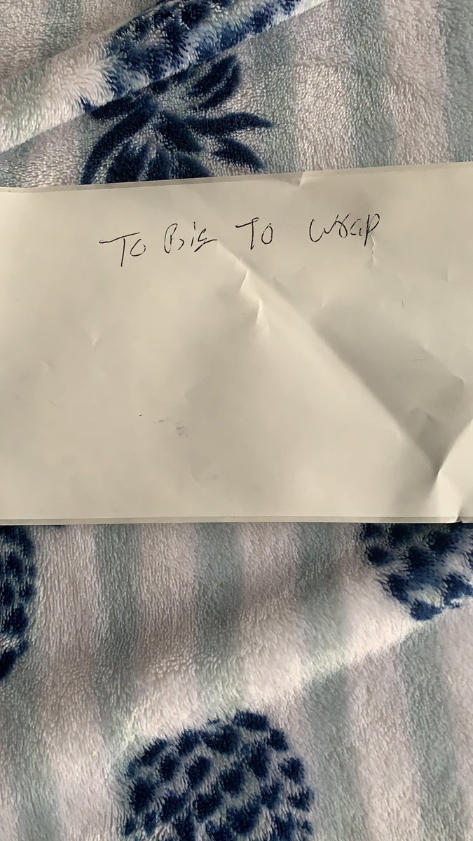This is the note I got with my package. Exactly why I paid extra to have you wrap it @potterybarn didn't get my money back for the extra I paid for wrapping either. #potterybarn #fail