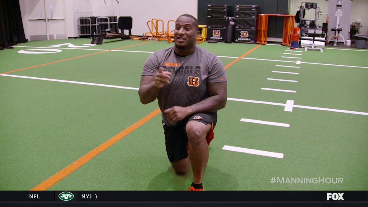 We all could use some yoga these days. @Bengals DT @Mike_Daniels76 relaxes with us on this week's #ManningHour.