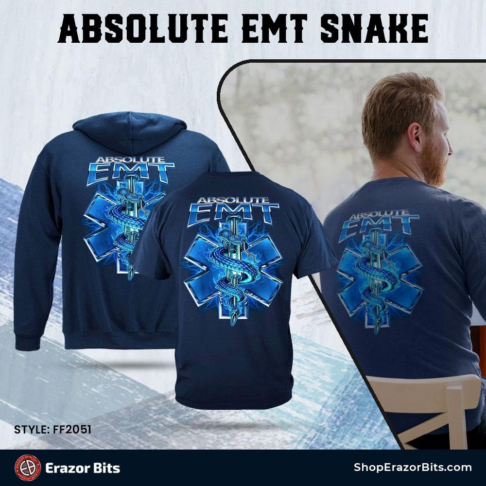 Absolute EMT Snake Premium T-Shirt  Buy Now:   #EMT #firstresponders #firstrespondersfirst #firstrespondersday #firefighter #firstrespondersstrong #citizensoldiers #Femalecops #Allfirstresponders #ErazorBitsNation #ShopErazorBits⠀