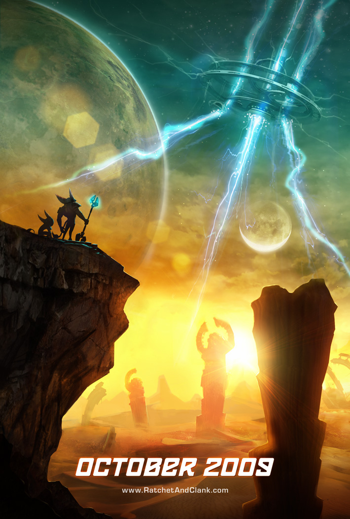 This Ratchet & Clank Future: A Crack in Time teaser poster was perfect!