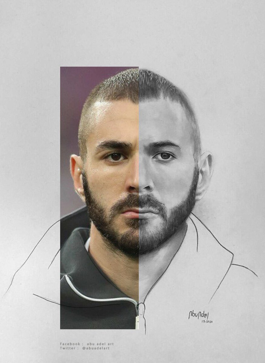 Here he is! #Benzema   Rt if you like it 💛 My #Drawing #رسمتي