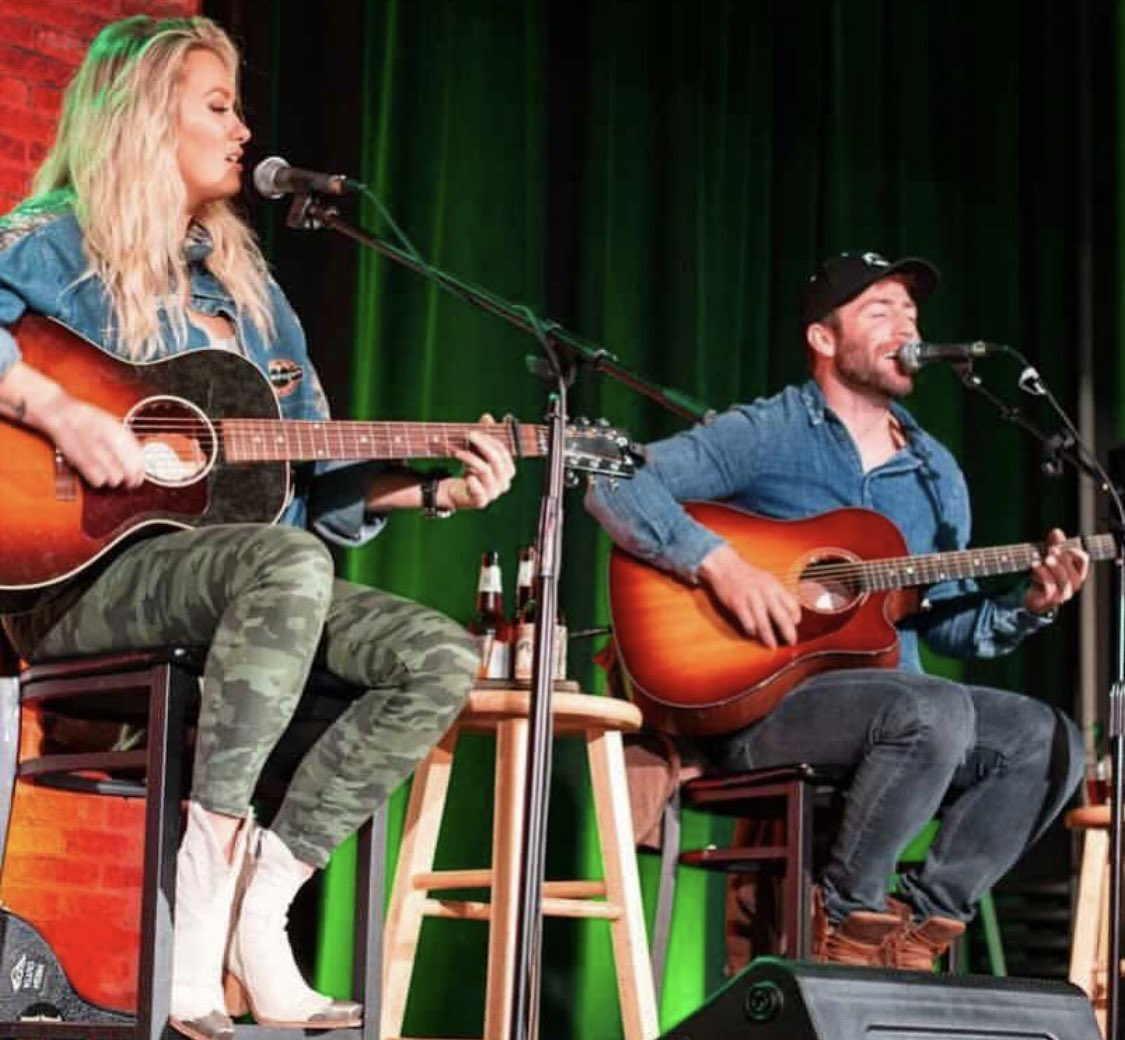 Hey @MegPatrickMusic we finally got to perform Really Shouldn't drink around you!! Only took a year!!