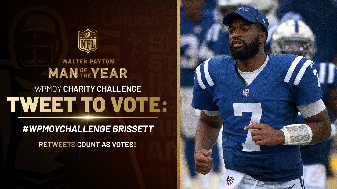 Replying to @DeForestBuckner: #WPMOYChallenge Brissett   My guy changing lives! RT to Vote!