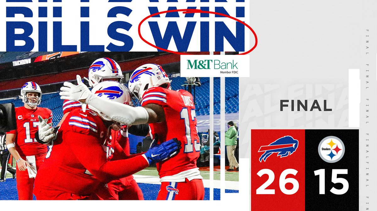 Replying to @BuffaloBills: BILLS WIN!!!  #PITvsBUF | #BillsMafia
