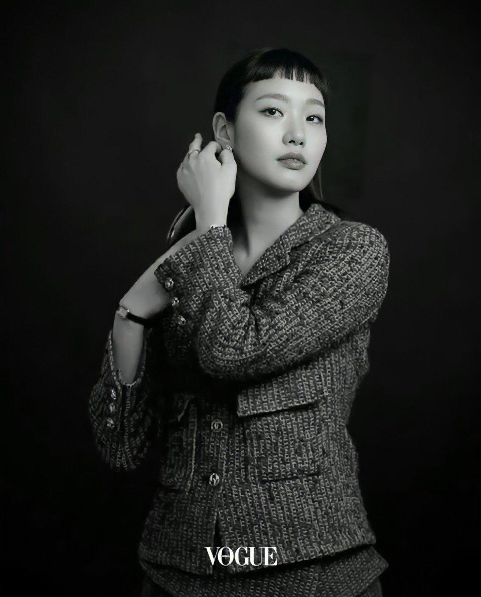 @VogueKorea  x  @CHANEL for Christmas Party Ad  #KimGoEun  #CHANELCruise