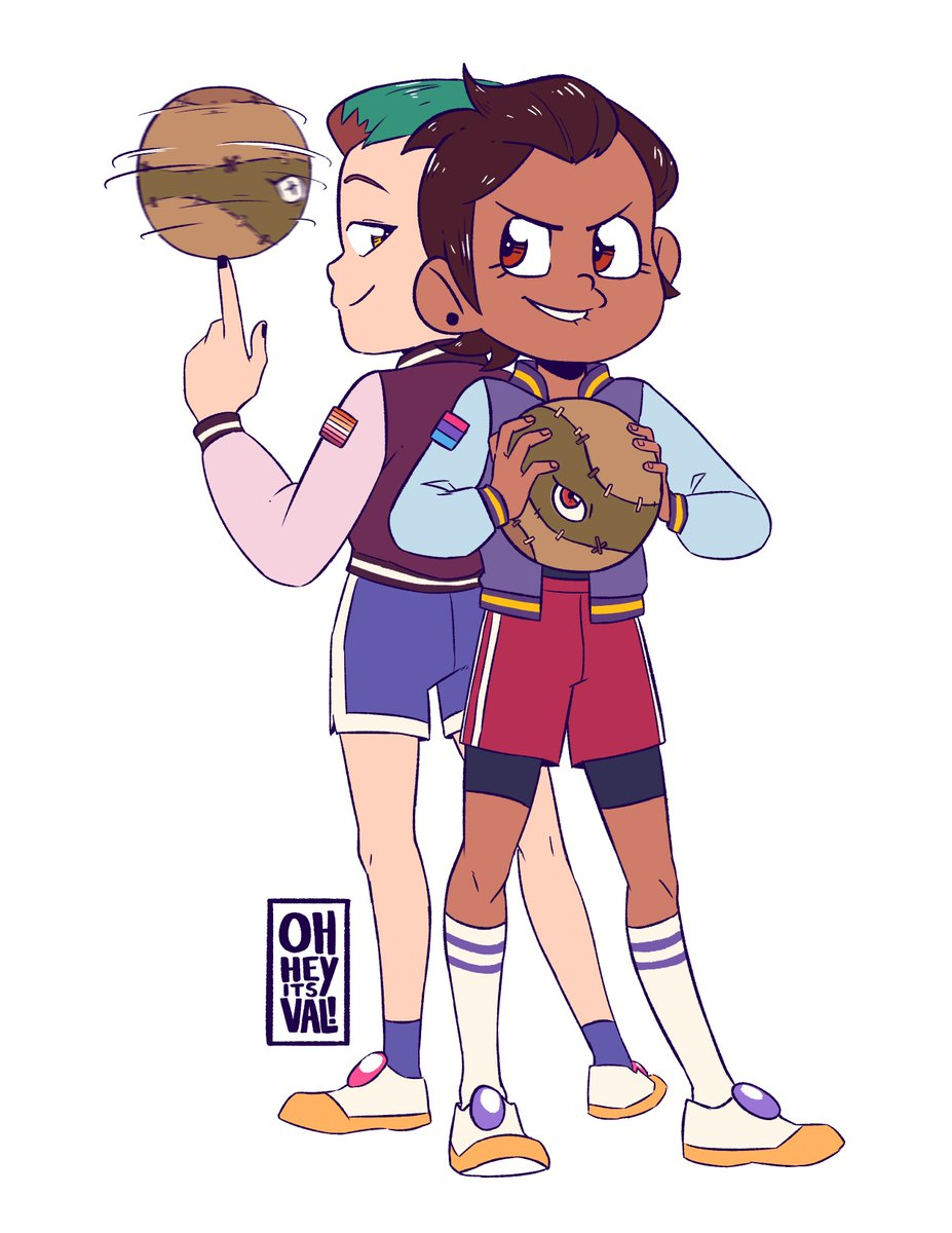 i forgot i never posted this i was originally going to add shading and post it for TOH art fight but that didnt happen so heres some jock luz #TheOwlHouse