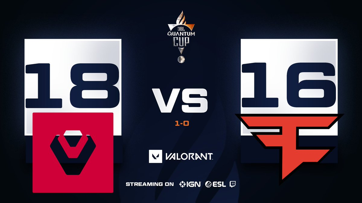 After a 01:04:01 long match, @Sentinels take game 1 over @FaZeClan 😩  Coming up next is SPLIT so come watch the action! 😎  📺 #JBLQuantumCup