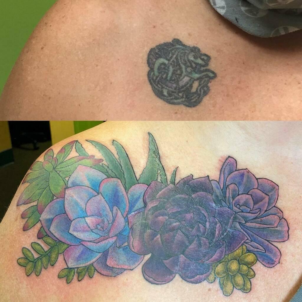 Azarja Van Der Veen On Twitter Cover Up Succulents Tattoo Tattoos Tattooer Coverup Tattooartist Https T Co L1vhreqhcp