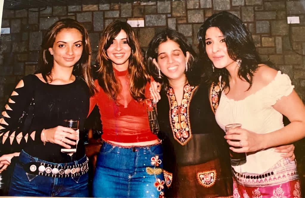 Flashback @maheepkapoor @seemakhan @bhavanapandey celebrating the stupendous success of #TheFabulousLifesofBollywoodwifes 20 years back