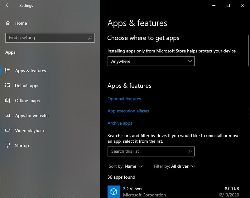 The App Archival feature that previously popped up in build 20201 is back inside build 21277, albeit hidden & featuring a slightly different way to access it. You'll need to enable feature 21206371 (Stubification) and a link labeled Archive apps will appear in the Apps category.