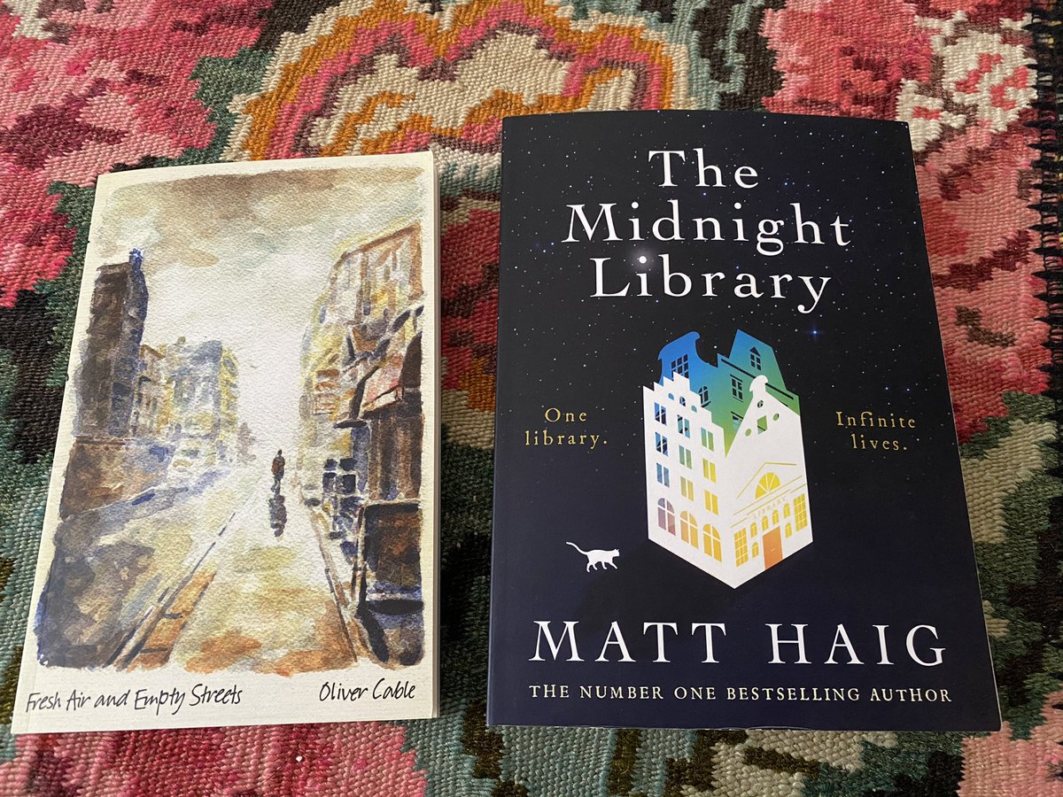 Last week I read Fresh Air and Empty Streets by Oliver Cable. Bought @wordonthewater. #ChooseBookshops   Just began reading The Midnight Library by @matthaig1.   What are you #reading and where did you buy the book?   #SupportIndependentbookshops