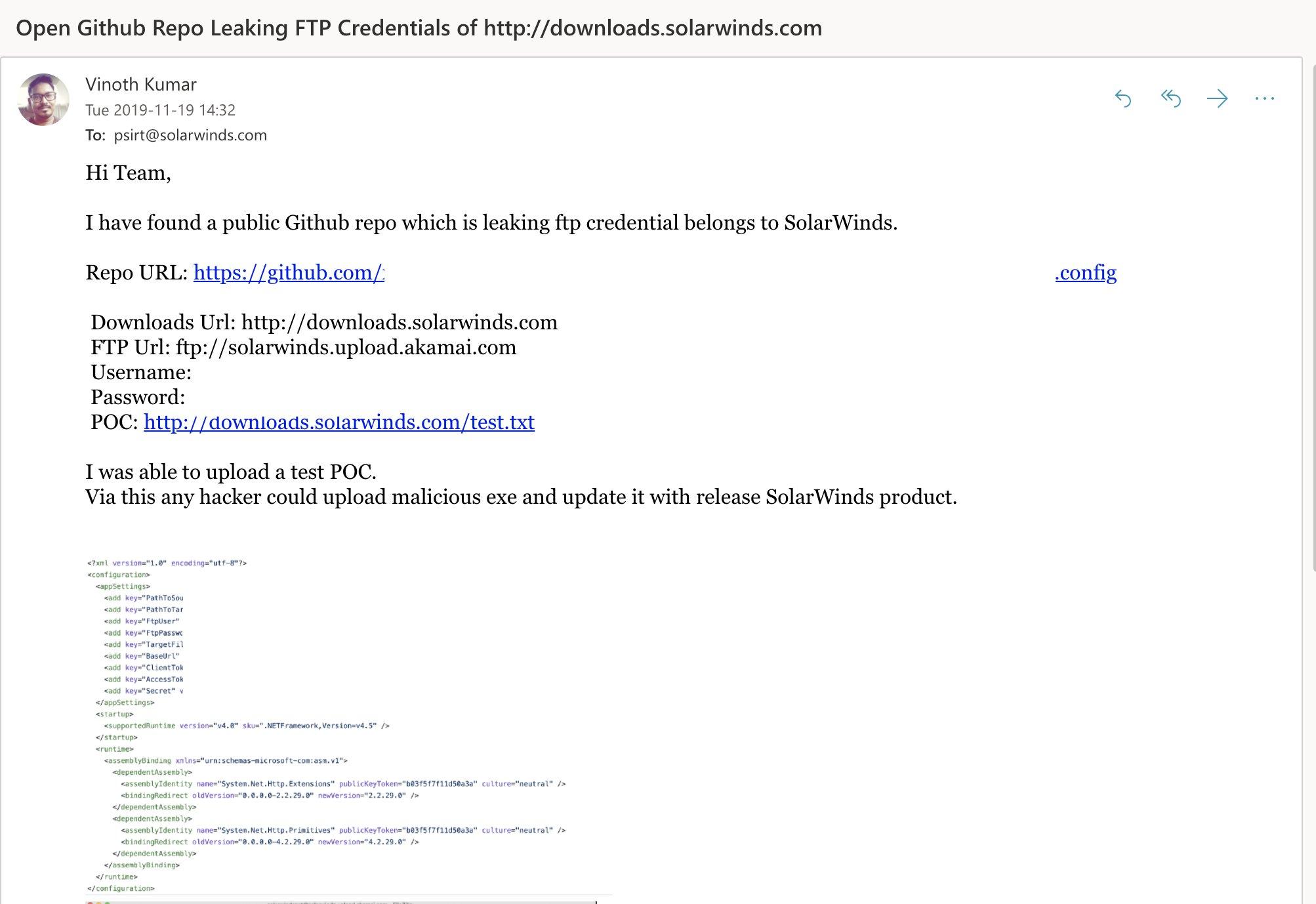 solarwinds hack breach ftp credentials leak
