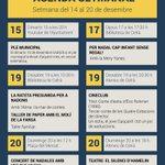 Image for the Tweet beginning: Compartim l'agenda d'aquesta setmana perquè