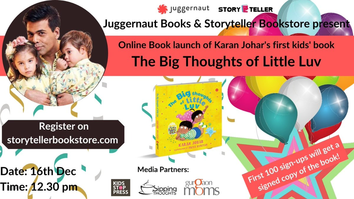 Just 2 days to go for the online book launch of KJo's #TheBigThoughtsOfLittleLuv ! Waitingg!!  #KaranJohar #DharmaProductions #Bollywood #DharmaMovies #BestActors #Bollywood #KJO #Director #BestFilmmaker #Bollywoodmovies