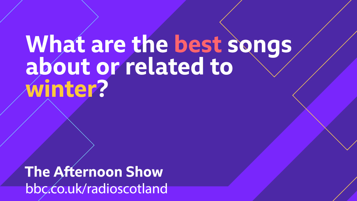 As we head towards midwinter, for this afternoon's Topical Tune we are looking for the best songs about or related to winter  Let us know your suggestions below 👇  #TheAfternoonShow with @JaniceForsyth from 2pm -