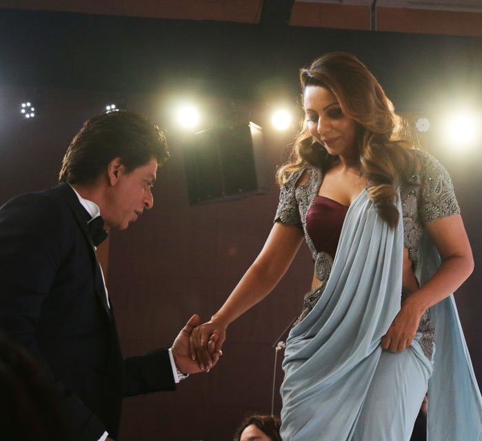 @iamsrk Hahahah...King of WIT & SENSE OF HUMOR!   You two are the best! Always gives us the real couple goals.   Many congratulations to u @gaurikhan mam for thie honour #AD100 #ADIndia   Love you so much SRK ❤️