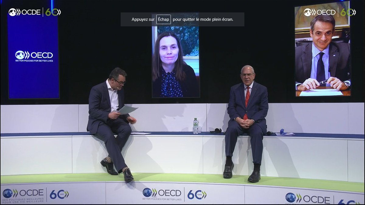 The OECD has led numerous ground-breaking initiatives in recent years such as the BEPS Action Plan, the 1st International Standards on #AI & the Anti-Bribery Convention.  How can the OECD continue to play a leading role to shape global governance & public policymaking? #OECD60 https://t.co/wV0AUqfXRA