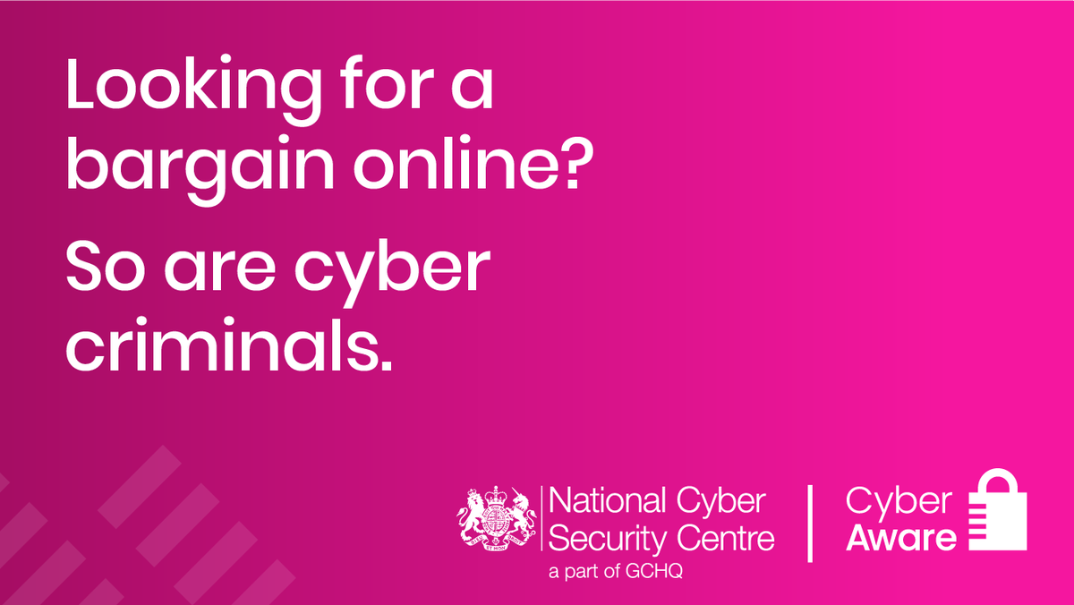 Cyber crime is a serious threat. During the festive period last year, victims lost an average of £775.   This festive season @cyberawaregov recommend you take these 6 steps to stay safe: #CyberAware (1/7)