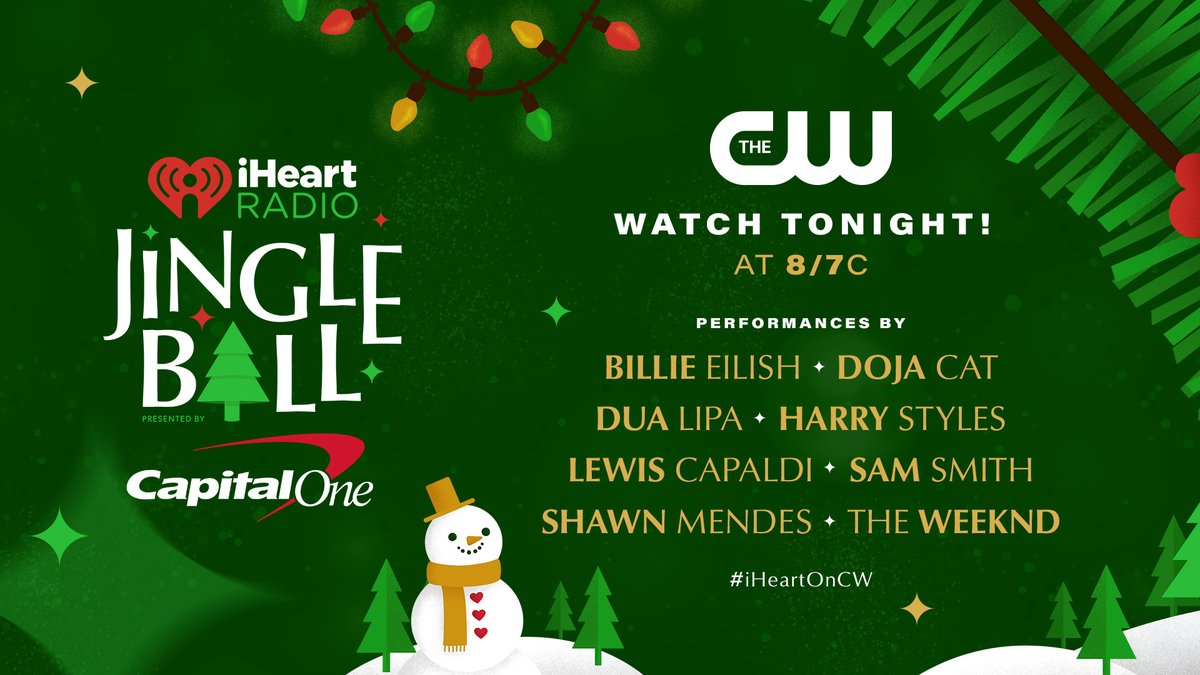 In case you missed it, or want to relive all the incredible moments, tune in to our 2020 iHeartRadio Jingle Ball special tonight at 8pm ET/PT on @TheCW! ❤️🎄 #iHeartOnCW
