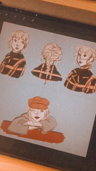 Taylor swift sketches that i didn\t get to finish but oh well happy belated bday