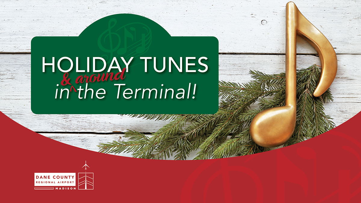 MSN Airport's Tunes in [and around] the Terminal starts THIS SATURDAY, December 19th  #MSNAirport #TunesinandAroundtheTerminal #Holidays #Tradition