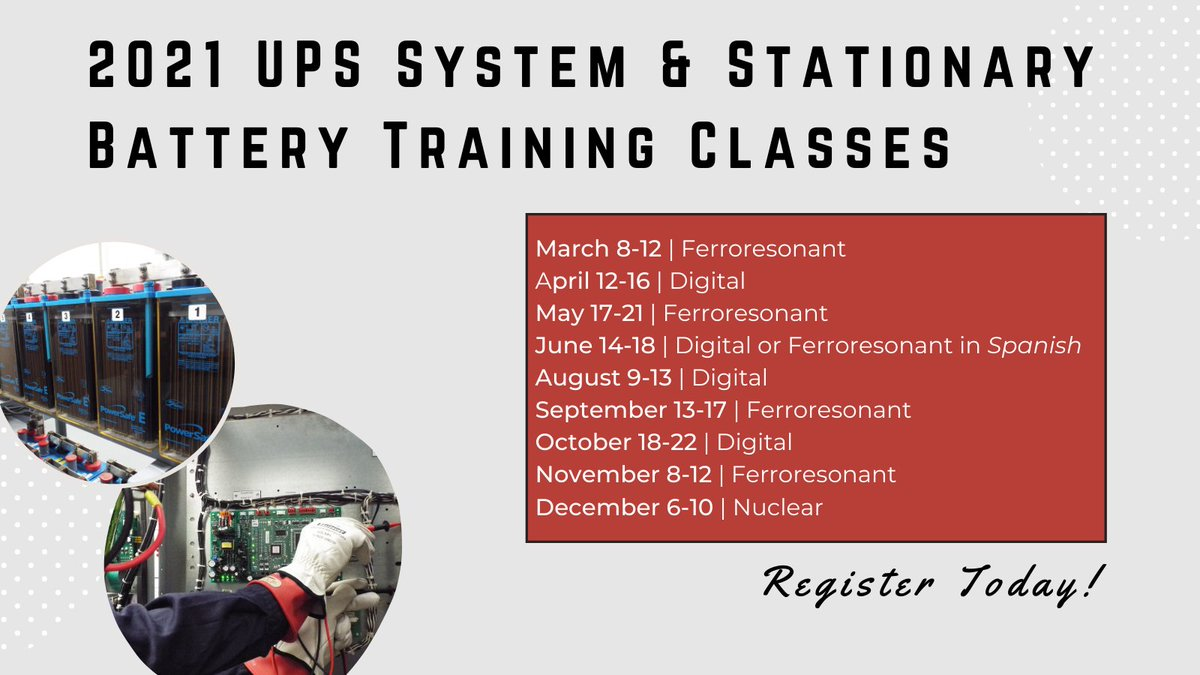 Do you have questions about your Uninterruptible Power Supply and battery systems? Our @AMETEKSCI team has the answers. Attend one of their training classes next year to learn more: https://t.co/51dYrkdrDJ  #IndustrialUPS #UPSSystem #AmetekSolidstateControls https://t.co/7Y6QkznRpI