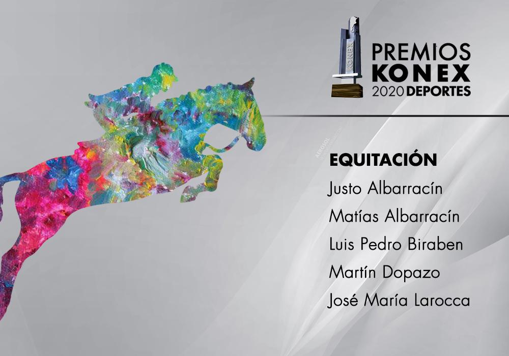 En la disciplina #Equitación, los ganadores del #PremioKonex son:  🔹Justo Albarracín 🔹Matías Albarracín  🔹Luis Pedro Biraben 🔹Martín Dopazo 🔹Jose Maria Larocca   Acá el listado completo de premiados👇